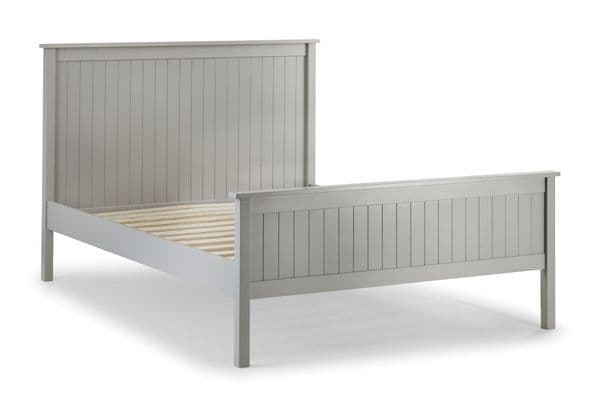Legnano Durable Dove Grey Lacquered Finish King Size Bed JB287